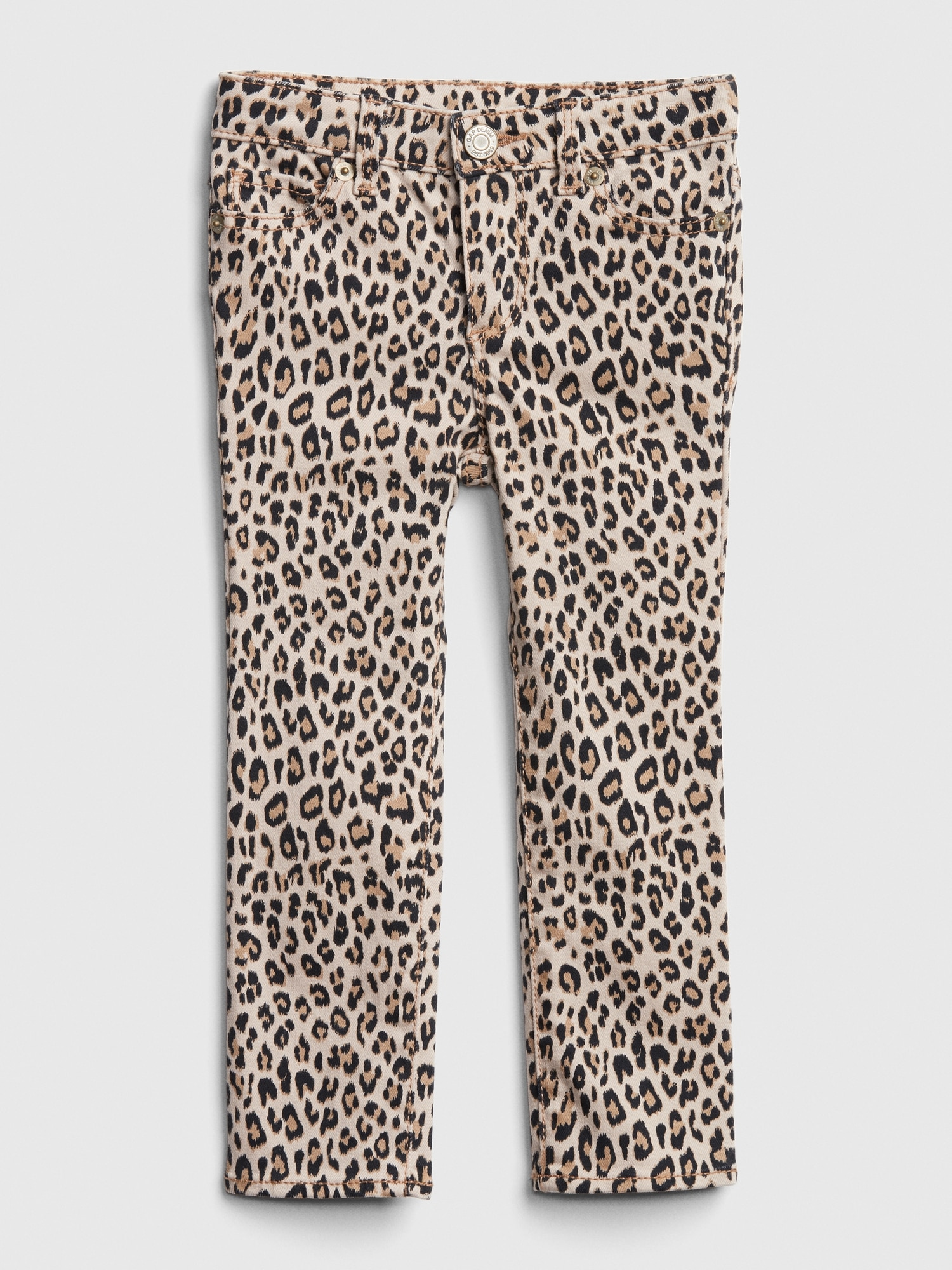 authentic how to buy classic Toddler Leopard Super Skinny Jeans with Fantastiflex   Gap
