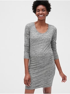 Maternity Long Sleeve T-Shirt Dress