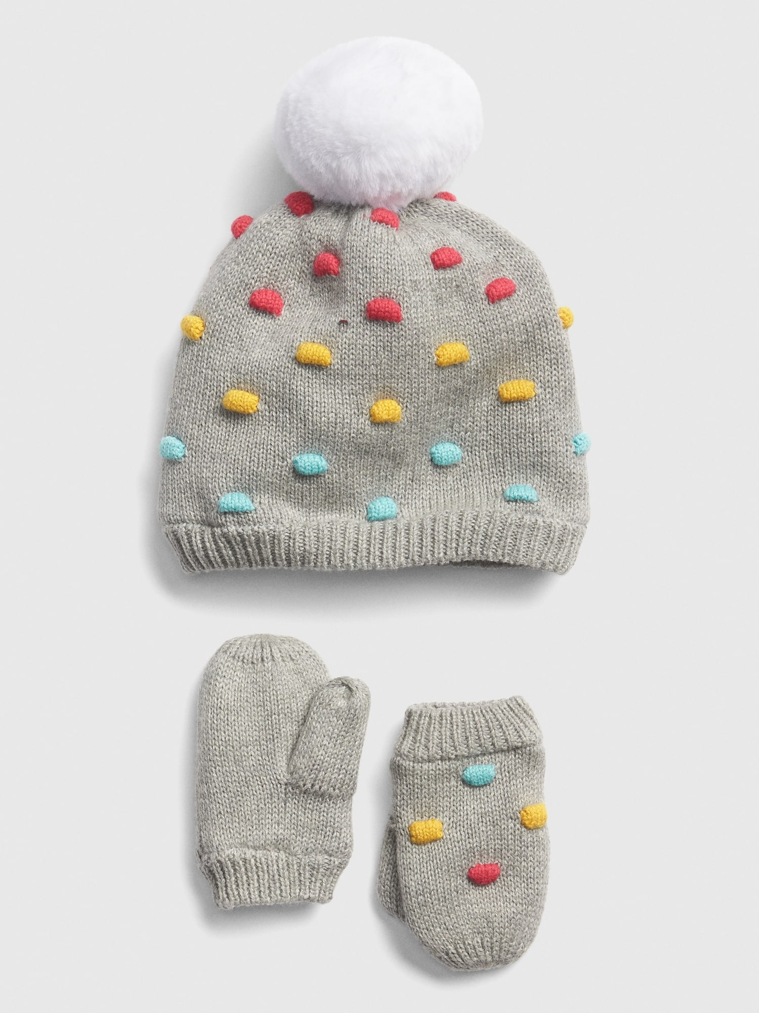 GAP Baby Toddler Boy Girl Size 12-18 Months Ivory Cable Knit Beanie Sweater Hat