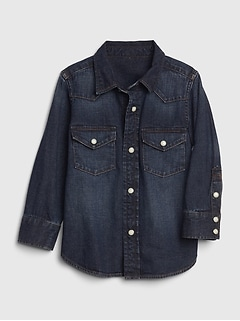 Toddler Western Denim Shirt