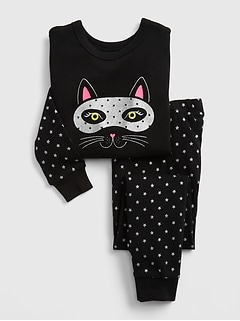 Baby Glitter Cat PJ Set