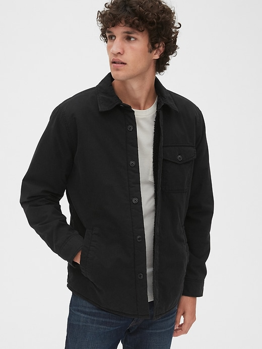 Sherpa Lined Shirt Jacket by Gap