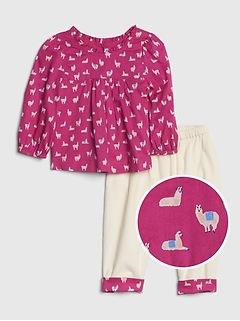 Baby Llama Outfit Set