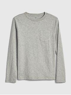 T-shirt à poche à manches longues pour enfant