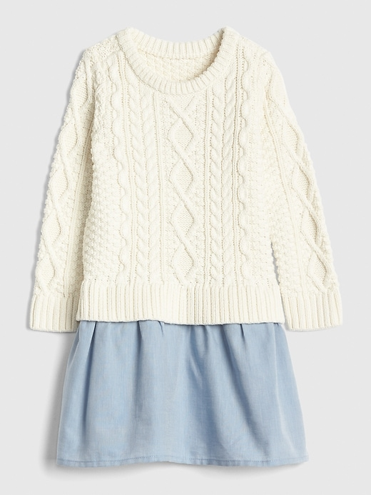 Toddler Cable Knit Mix Media Dress by Gap