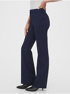 Pantalon coupe étroite semi-évasée et profilée à taille haute