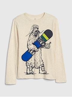 T-shirt à imprimé à manches longues pour enfant