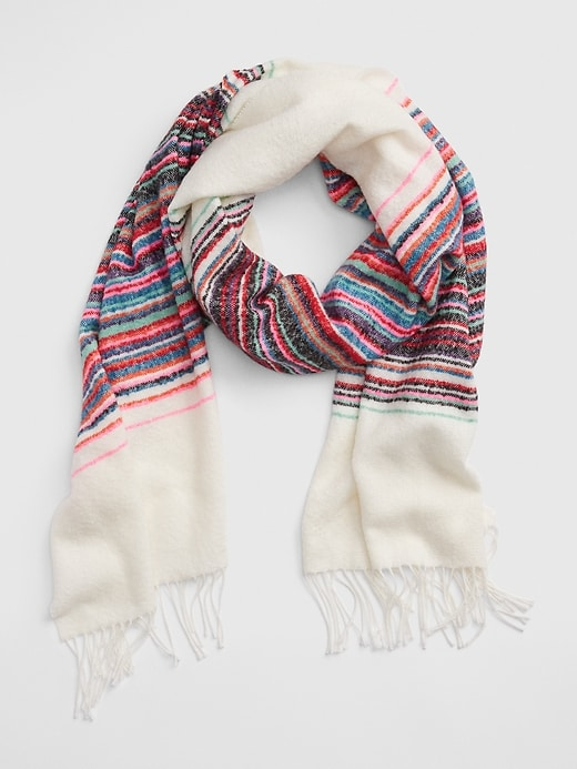 Cozy Boucle Fringe Scarf by Gap
