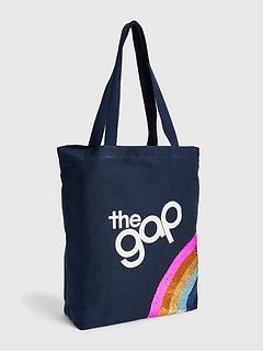Fourre-tout à paillettes avec logo Gap pour enfant
