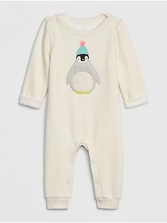 Une-pièce douillet avec applique pour bébé