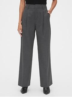 Pantalon à jambe large et à taille haute