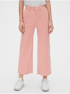 High Rise Wide-Leg Crop Cords