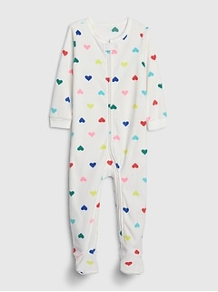 babyGap Heart PJ Footed One-Piece