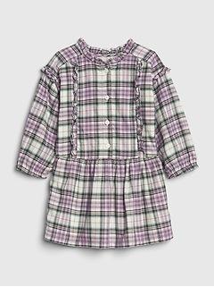 Toddler Ruffle Plaid Dress