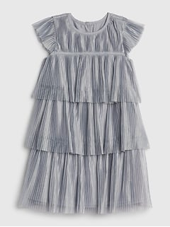 Toddler Pleated Tulle Dress