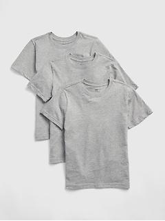 T-shirt à manches courtes pour enfant (paquet de3)