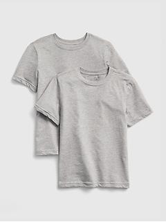 Kids Short Sleeve Undershirt (2-Pack)