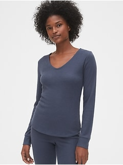Softspun Ribbed V-Neck T-Shirt