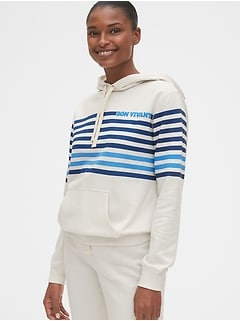 Graphic Stripe Pullover Hoodie