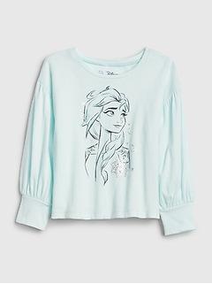 T-shirt à manches ballon à motifs de la Reine des neiges babyGap | Disney