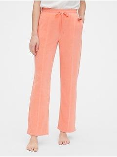Velour Seamed Pants