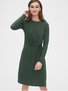 Twist-Front Dress in TENCEL™
