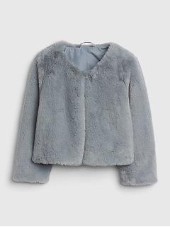 Toddler Faux-Fur Crop Jacket