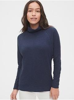 Maternity Mockneck Nursing Sweatshirt