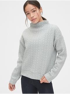 GapFit Jacquard Mockneck Sweatshirt