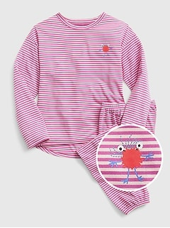 Kids Stripe Monster PJ Set