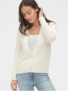 Shaker Stitch Cardigan Sweater