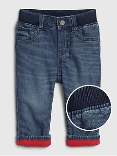 Baby Fleece-Lined Straight Jeans