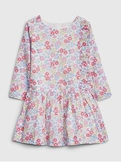 Toddler Floral Drop-Waist Dress