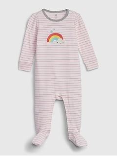 Baby Rainbow Footed One-Piece