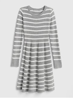 Kids Stripe Fit and Flare Dress