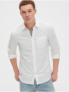 Long Sleeve Shirt in Linen-Cotton