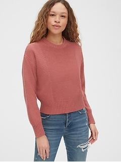 Mix-Stitch Crewneck Sweater