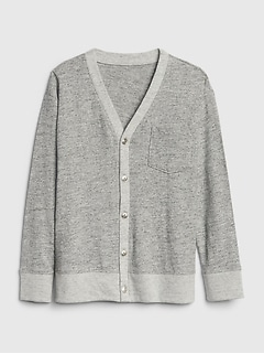 Kids Marled Cardigan Sweatshirt