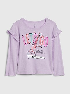 Toddler Ruffle Graphic T-Shirt