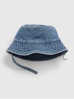 Chapeau en denim pour bébé