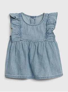 Baby Ruffle Denim Top