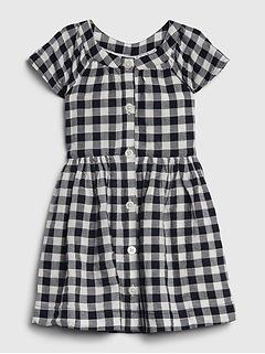 Toddler Gingham Shirtdress