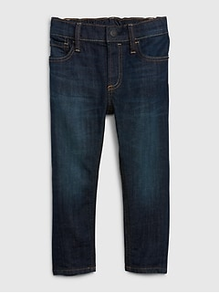 Toddler Elasticized Pull-On Skinny Jeans with Stretch