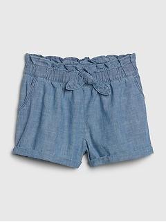 Toddler Chambray Utility Shorts