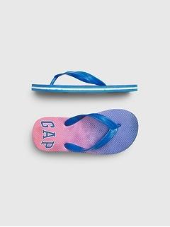 Kids Dip-Dye Flip Flops