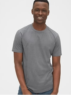Vintage Soft Curved Hem T-Shirt