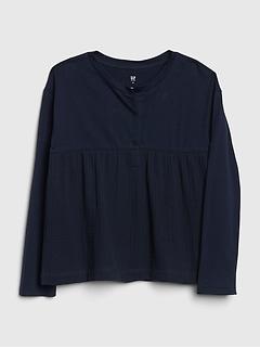 Kids Henley Crinkle-Weave Shirt