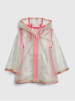 Toddler Sparkle Rainbow Raincoat