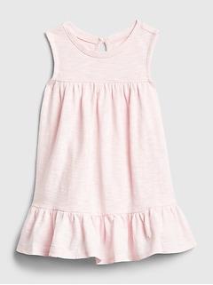 Baby Sleeveless Peplum Dress