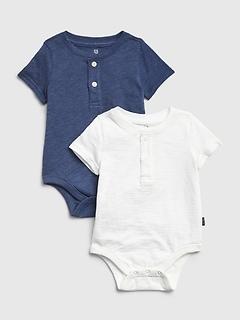 Baby Henley Bodysuit (2-Pack)